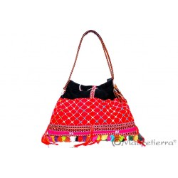 Bolso de asas triangular bordado