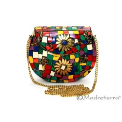 Bolso Mosaico Multicolor. Tamaño Mini